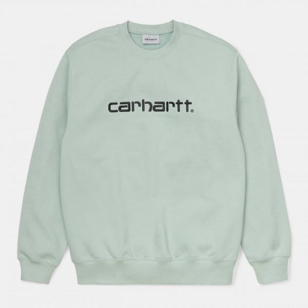 CARHARTT SWEATSHIRT FROSTED GREEN/BLACK I027092