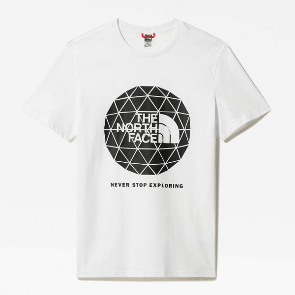 THE NORTH FACE M SS GEODOME TEE TNF WHITE NF0A4M7YFN41