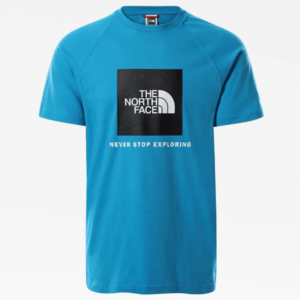 THE NORTH FACE M S/S RAGLAN RED BOX TEE MERIDIAN BLUE NF0A3BQOD7R1