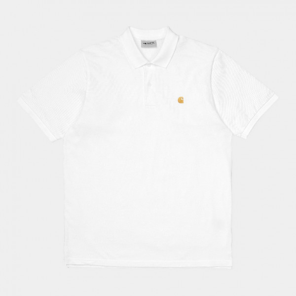 CARHARTT S/S CHASE PIQUE POLO WHITE/GOLD I023807