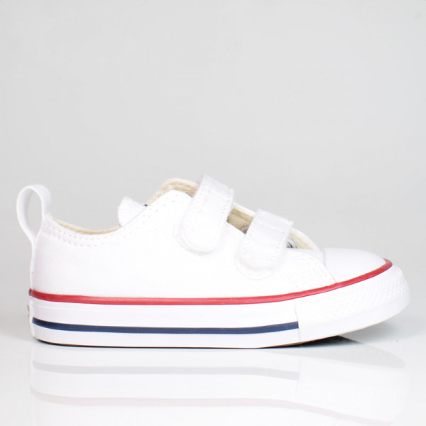 CONVERSE KIDS TODDLER EASY-ON CHUCK TAYLOR ALL STAR LOW TOP WHITE/GARNET/NAVY 769029C