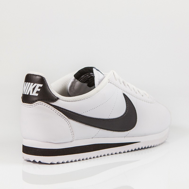 NIKE CLASSIC CORTEZ LEATHER WHITE/BLACK-WHITE