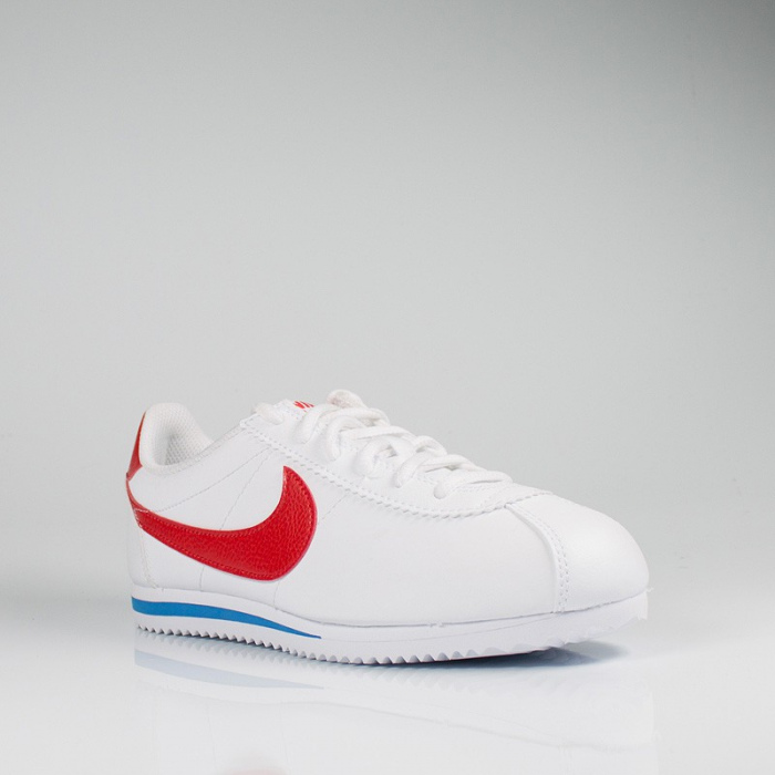 NIKE CORTEZ GS WHITE CHALLENGE RED-SOAR BLANC
