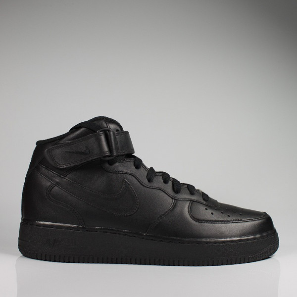NIKE AIR FORCE 1 MID BLACK/BLACK-BLACK