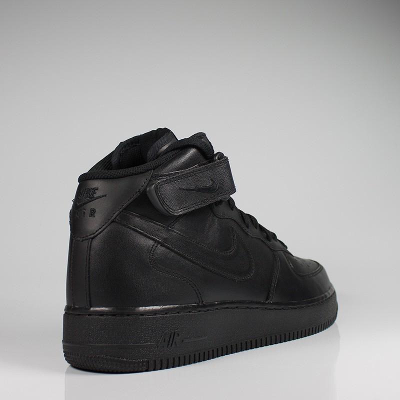 NIKE AIR FORCE 1 MID BLACK/BLACK-BLACK