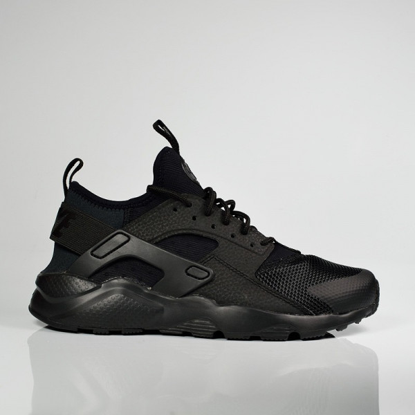 NIKE AIR HUARACHE RUN ULTRA GS BLACK BLACK
