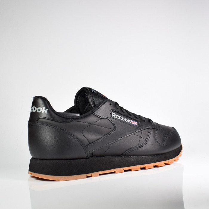 REEEBOK CL LTHR BLACK/GUM 49800