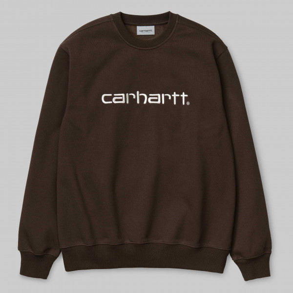 CARHARTT SWEAT TOBACCO/WAX