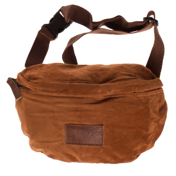 GRIMEY NATURAL SUEDE FANNY PACK BROWN