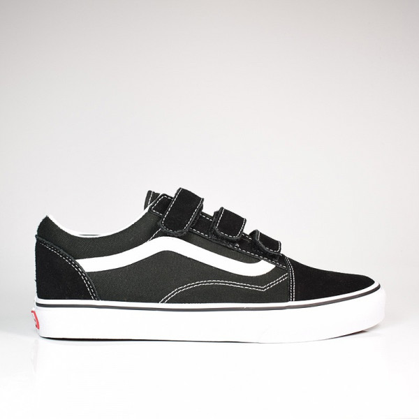OLD SKOOL V SUEDE CANVAS BLACK TRUE WHITE