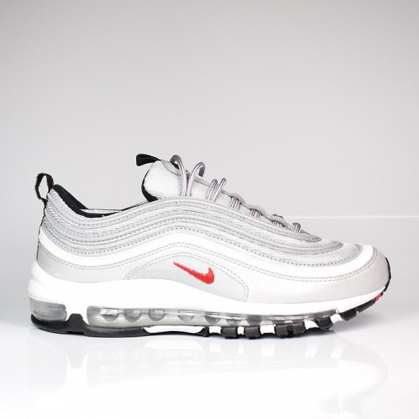 NIKE WOMEN AIR MAX 97 OG QS METALLIC SILVER/VARSITY RED