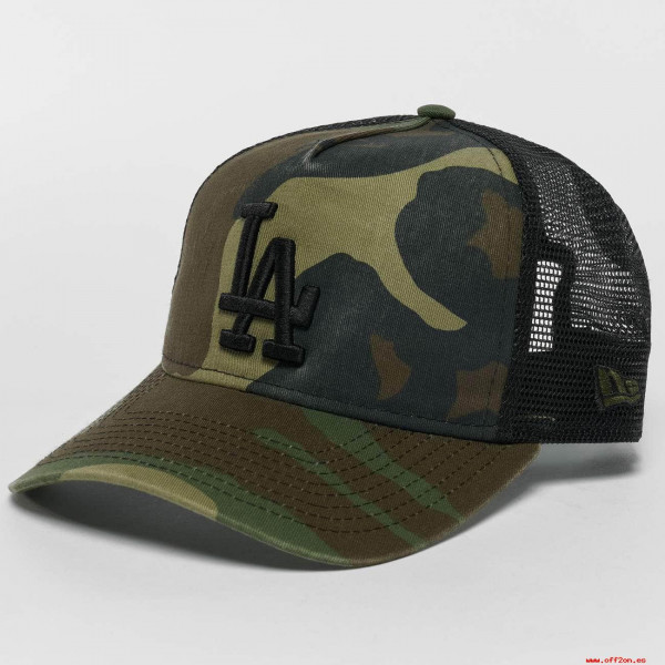 NEW ERA TRUCKER WASHED CAMO LOS ANGELES DODGERS