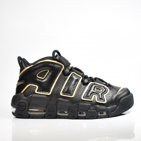 NIKE AIR MORE UPTEMPO 96 FRANCE QS BLACK / METALLIC GOLD