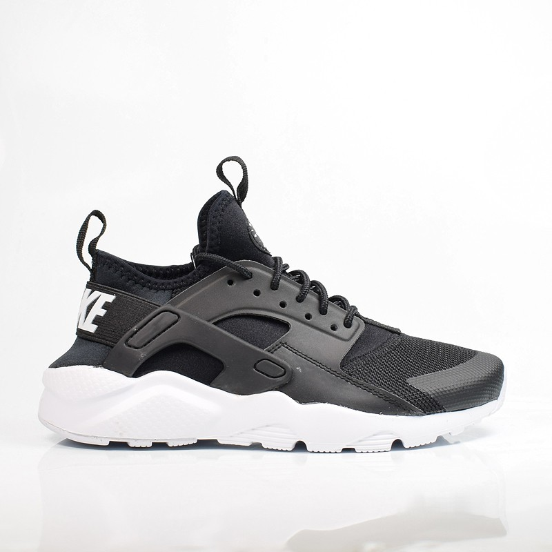 12a7b3ae311 NIKE AIR HUARACHE RUN ULTRA GS BLACK WHITE