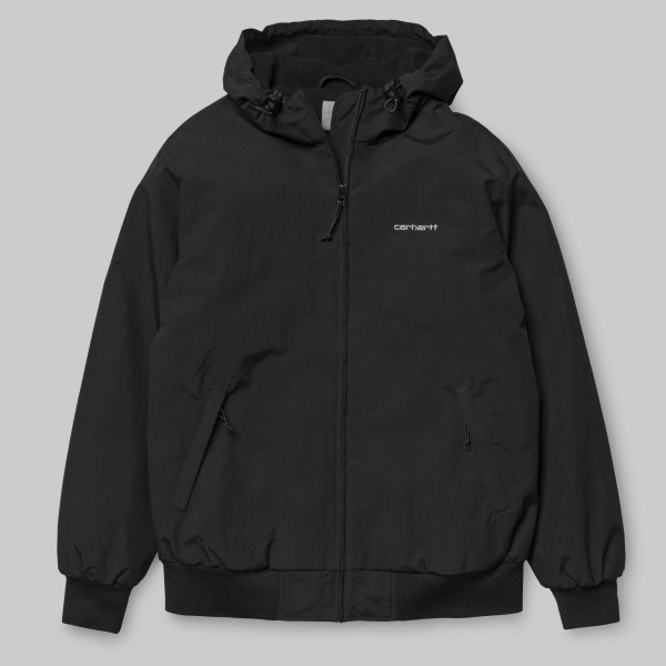 CARHARTT HOODED SALL JACKET BLACK/WHITE