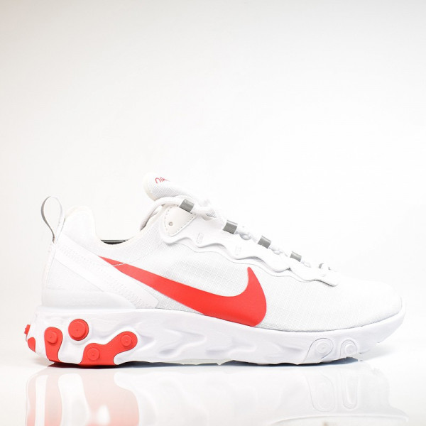 NIKE REACT ELEMENT 55 SE SU 19 WHITE/UNIVERSITY RED BQ6167-102