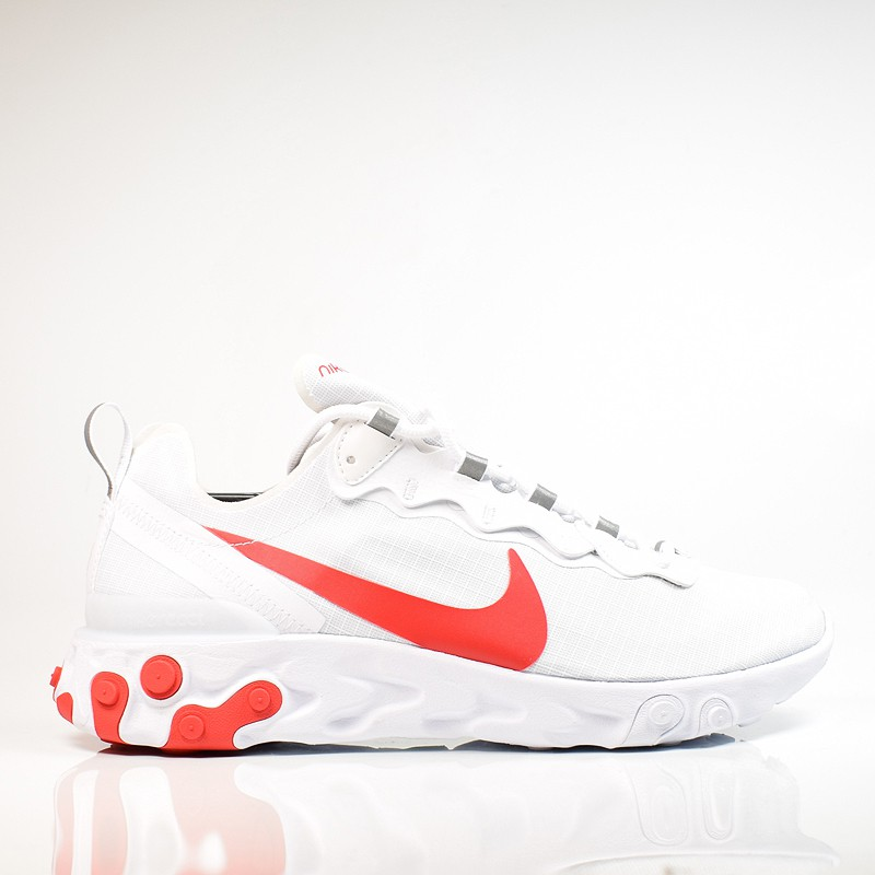 separation shoes 51774 fd986 NIKE REACT ELEMENT 55 SE SU 19 WHITE UNIVERSITY RED BQ6167-102