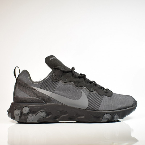 NIKE REACT ELEMENT 55 BLACK/DARK GREY BQ6166-008