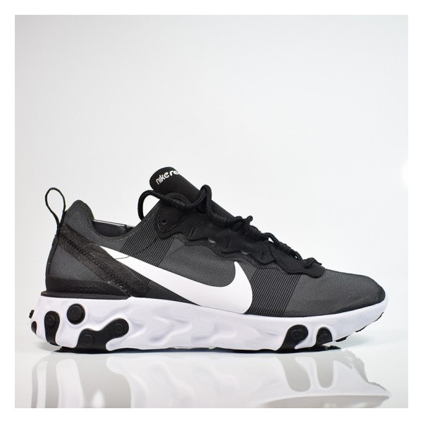 W NIKE REACT ELEMENT 55 BLACK / WHITE BQ2728-003