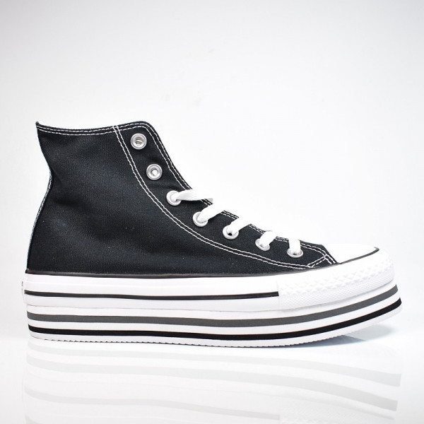 CONVERSE CHUCK TAYLOR ALL STAR LIFT HIGH TOP BLACK / WHITE / THUNDER 564486C