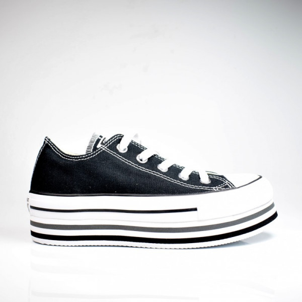 CONVERSE CTAS PLATFORM LAYER OX BLACK / WHITE / THUNDER 563970C