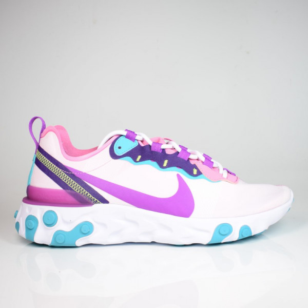 W NIKE REACT ELEMENT 55 MAGIC FLAMINGO/VIVID PURPLE BQ2728-603