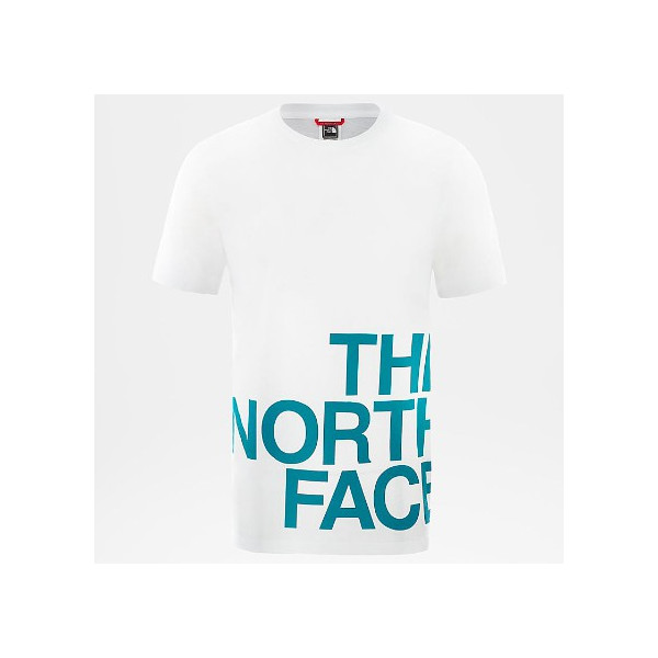 THE NORTH FACE M SS GRAPHIC FLOW TNFWHITE/GREEN NF0A4926P7U1