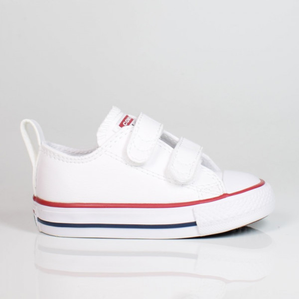 CONVERSE CHUCK TAYLOR ALL STAR 2V LEATHER TODDLER WHITE 748653C
