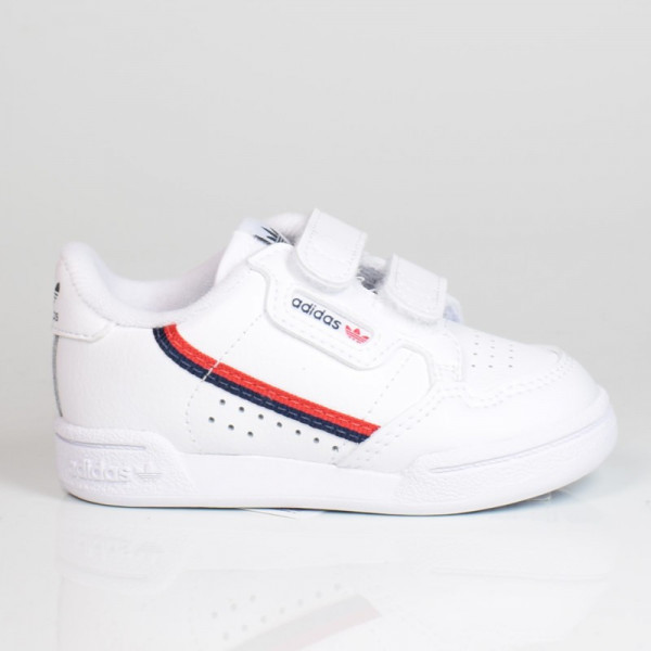 ADIDAS CONTINENTAL 80 CF I JUNIOR CLOUD WHITE/SCARLET EH3230